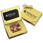 Business Card Box with Chocolate Footballs