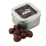Window Tin with Chocolate Peanuts