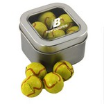 Window Tin with Chocolate Tennis Balls