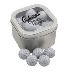 Window Tin with Chocolate Golf Balls