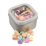 Window Tin with Conversation Hearts