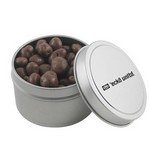 Round Tin with Chocolate Raisins
