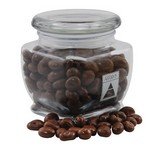 Jar with Chocolate Covered Raisins
