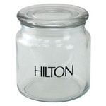 3 3/4 Round Glass Jar Empty