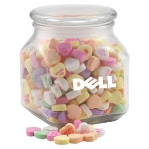 Jar with Conversation Hearts