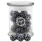 Jar with Chocolate Soccer Balls