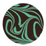 1oz Chocolate Bar Topped with Mint Swirl