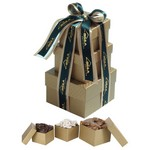 Three Stack Gift Tower - Milk, White & Dark Chocolate Selection