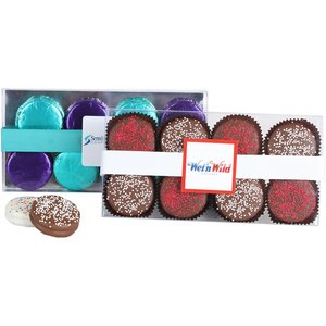 Chocolate Covered Sandwich Cookies w/ Sprinkles - 8 Piece
