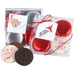 Holiday Milk Chocolate foiled Sandwich Cookies - 4 Piece Box