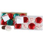 Holiday Milk Chocolate foiled Sandwich Cookies - 8 Piece Box