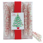 White Chocolate Peppermint Pretzel Rods - 10 Piece Box