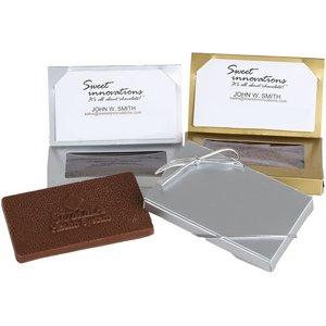 Business Card Box with 1oz Plain or Molded Chocolate Bar