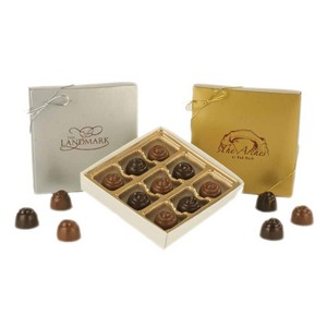 Truffles In Gold Box - 9 Piece Assorted