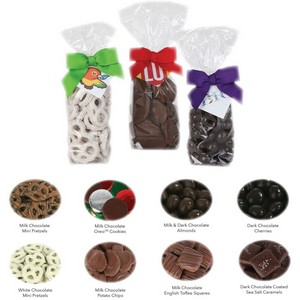 Gourmet Gift Bags - Milk Chocolate English Toffee Squares