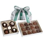 2 Tier Tower - 12 Piece Assorted Chocolates and Assorted Truffles