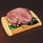 Spiral-Sliced Half Ham with Bamboo Cutting Board