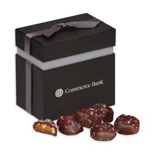 Sea Salt Almond Turtles in Elegant Treats Gift Box