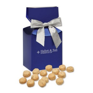 Gourmet Bite-Sized Butter Toffee Pecan Cookies in Blue Premium De