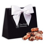 English Butter Toffee in Black and White Triangular Gift Box