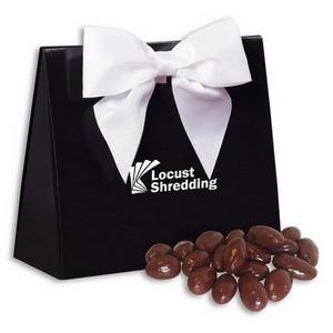 Chocolate Almonds in Black and White Triangular Gift Box