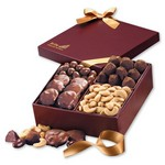 Savory Quartet Gift Box with Turtles, Truffles and Nuts