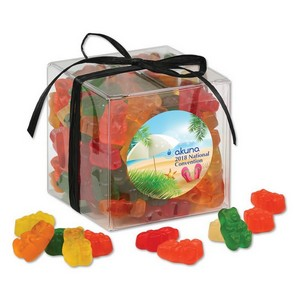 Stylish Acetate Cube with Gummy Bears