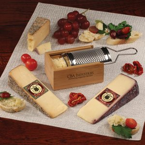 Bamboo Box Grater with Gourmet Cheese Selections