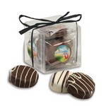 Stylish Acetate Cube with Chocolate Covered Oreos