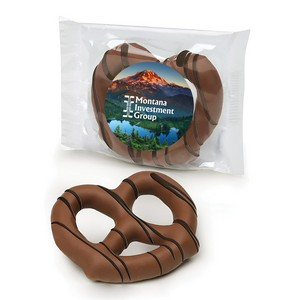 Milk Chocolate Dipped Pretzel Individually Wrapped