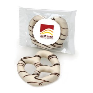 White Chocolate Dipped Pretzel Individually Wrapped