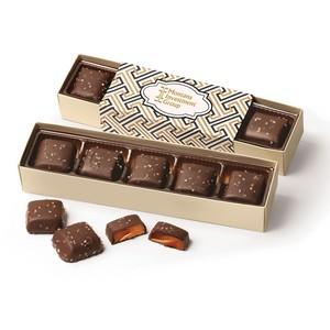 Chocolate Sea Salt Caramels Flight with Zigzag Wrap