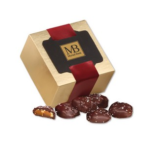 Sea Salt Almond Turtles in Gold Gift Box