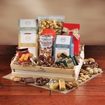 Basket of Sweets in Large Wooden Crate (Made in the USA)