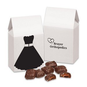 Little Black Dress Gift Box with Chocolate Sea Salt Caramels