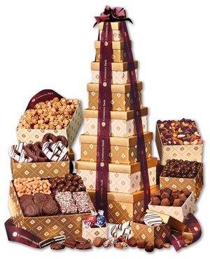 Golden Delights Classic Tower of Treats