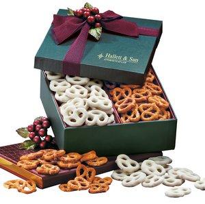 Sweet & Savory Pretzels in Green Gift Box