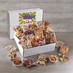 Large Gourmet Snack Pack Box with Custom Full Color Label