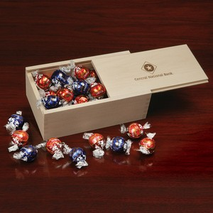 Lindt-Lindor Chocolate Truffles in Wooden Collector's Box