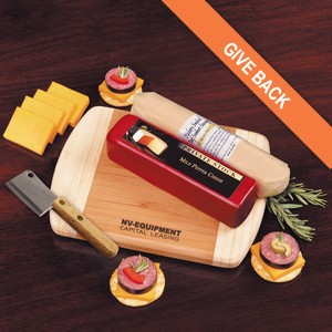 Shelf-Stable Wisconsin Favorites - Cheese and Summer Sausage with Board