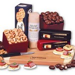 Gourmet Fare - Cheese, Nuts, Crackers and Sausage