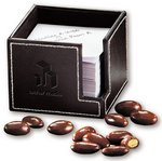 Faux Leather Note Holder with Chocolate Covered Almonds