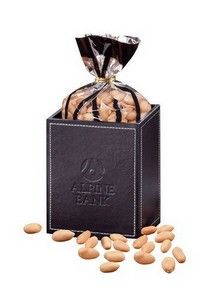 Faux Leather Pen and Pencil Cup with Choice Virginia Peanuts