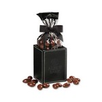 Faux Leather Pen and Pencil Cup with Chocolate Covered Almonds