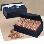 English Butter Toffee in Navy Magnetic Closure Box