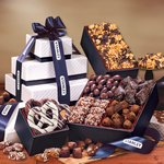 Gift Tower of Sweets - Navy and White