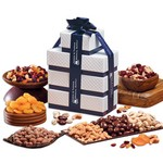 Sweet and Savory Sensation Tower of Nuts and Dried Apricots