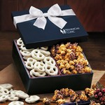 Crunchy Delights - Frosted Pretzels and Sea Salt Caramel Corn