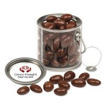 Clear Miniature Paint Bucket Pails with Chocolate Covered Almonds