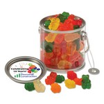 Clear Miniature Paint Bucket Pails with Gummy Bears